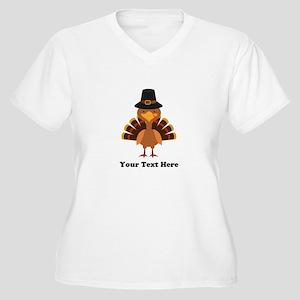 Thanksgiving Turk Women's Plus Size V-Neck T-Shirt