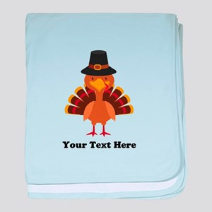 Thanksgiving Turkey Personalized baby blanket