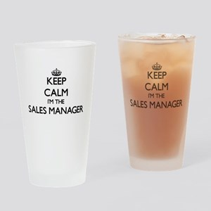 Keep calm I'm the Sales Manager Drinking Glass