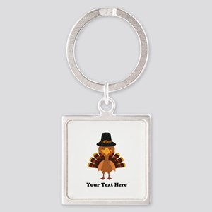 Thanksgiving Turkey Personalized Square Keychain
