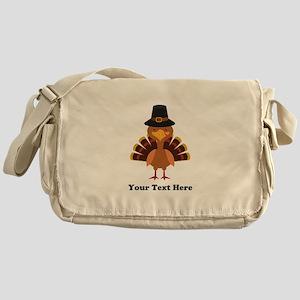 Thanksgiving Turkey Personalized Messenger Bag