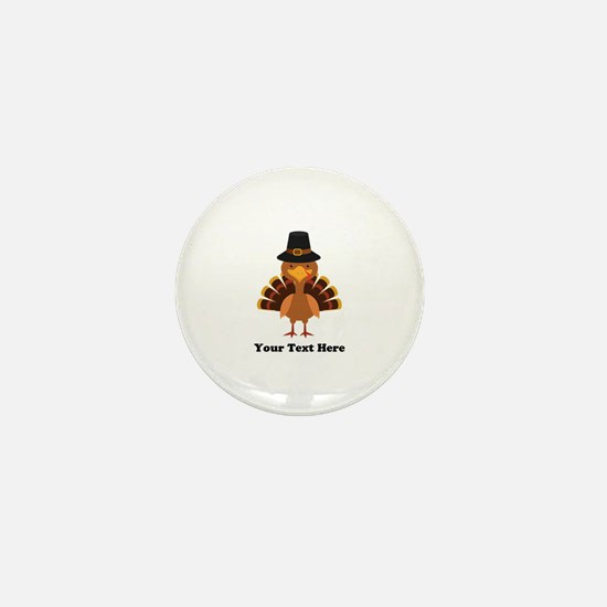 Thanksgiving Turkey Personalized Mini Button