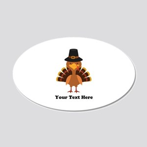 Thanksgiving Turkey Personal 20x12 Oval Wall Decal