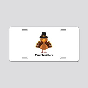 Thanksgiving Turkey Persona Aluminum License Plate