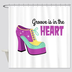 Groove In The Heart Shower Curtain