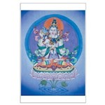 Buddha with Consort Poster Large