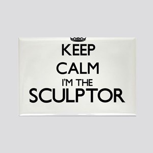 Keep calm I'm the Sculptor Magnets