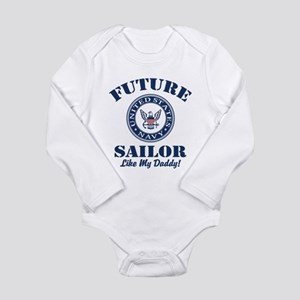 Future Navy Sailor Lik Long Sleeve Infant Bodysuit