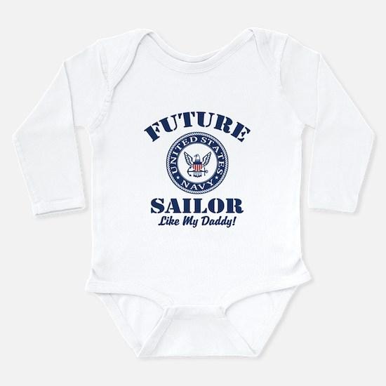 Future Navy Sailor Lik Long Sleeve Infant Bodysuit