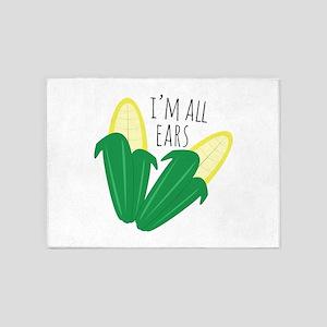 Im All Ears 5'x7'Area Rug