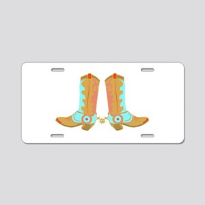 Cowboy Boots Aluminum License Plate
