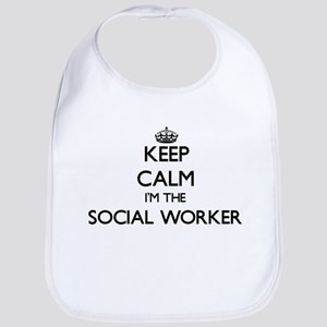 Keep calm I'm the Social Worker Bib