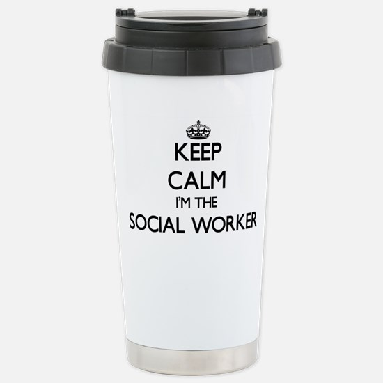 Keep calm I'm the Socia Stainless Steel Travel Mug