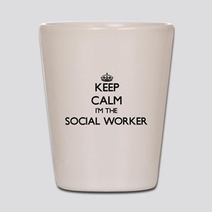 Keep calm I'm the Social Worker Shot Glass