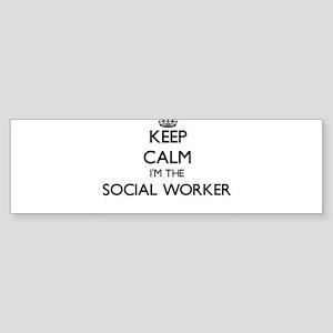 Keep calm I'm the Social Worker Bumper Sticker