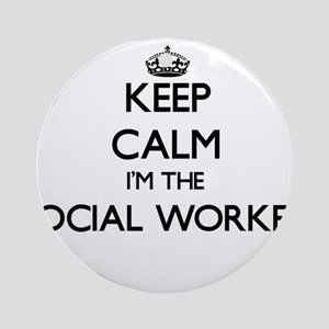 Keep calm I'm the Social Worker Ornament (Round)