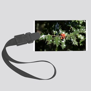 Christmas Holly Berries Luggage Tag