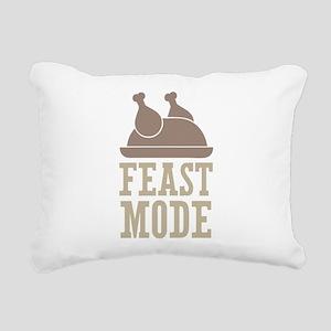 Feast Mode Thanksgiving Rectangular Canvas Pillow