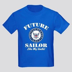 Future Navy Sailor Like My Uncle Kids Dark T-Shirt