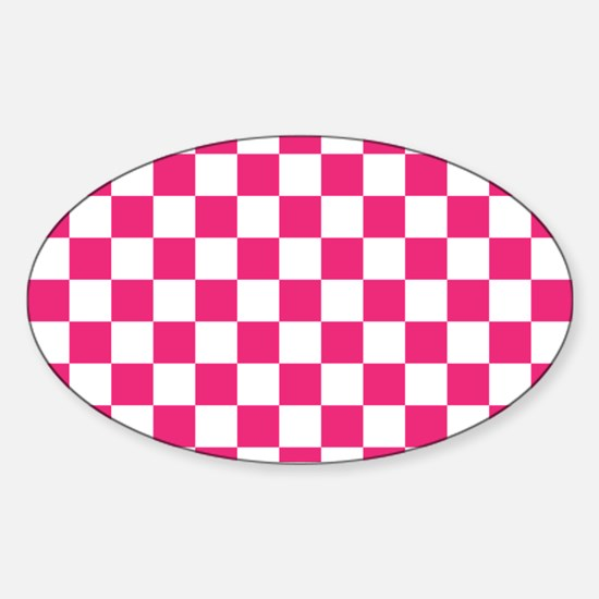 PINK AND WHITE Checkered Pattern Decal