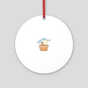 Cupcake Lover Ornament (Round)