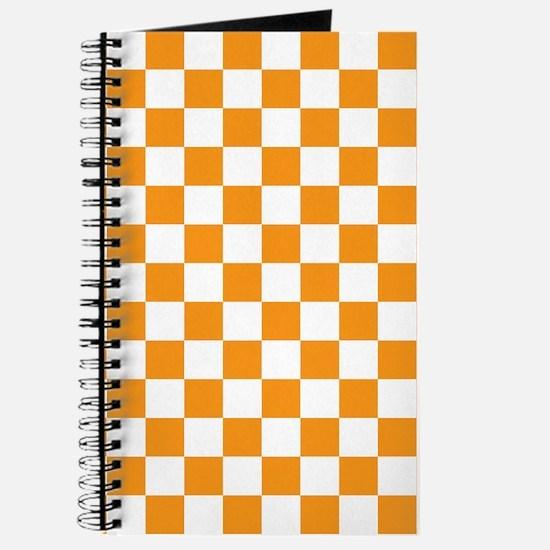 ORANGE AND WHITE Checkered Pattern Journal