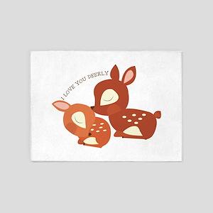 I Love You Deerly 5'x7'Area Rug