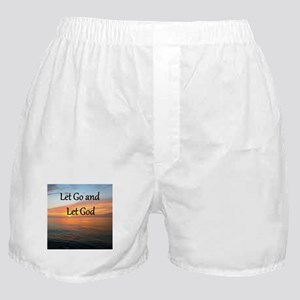 LET GO AND LET GOD Boxer Shorts