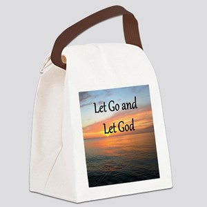 LET GO AND LET GOD Canvas Lunch Bag