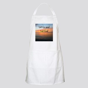 LET GO AND LET GOD Apron