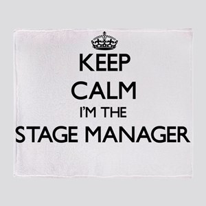 Keep calm I'm the Stage Manager Throw Blanket