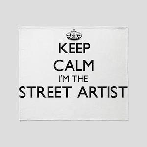 Keep calm I'm the Street Artist Throw Blanket