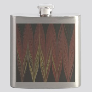 Vertical Red Zigzag Flask