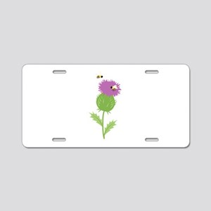 Thistle Bees Aluminum License Plate