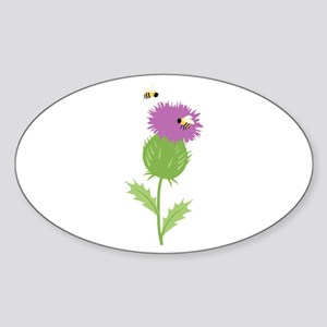 Thistle Bees Sticker