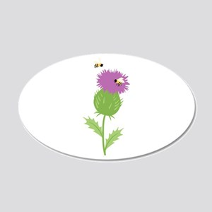 Thistle Bees Wall Decal