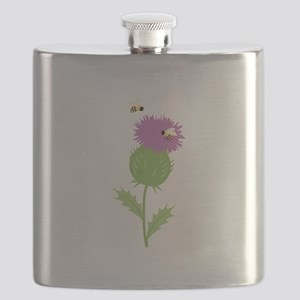 Thistle Bees Flask