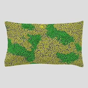 Woodcut Bubbles Gold Pillow Case
