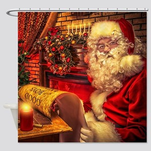 Santa Claus 4 Shower Curtain