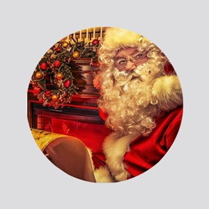 "Santa Claus 4 3.5"" Button"
