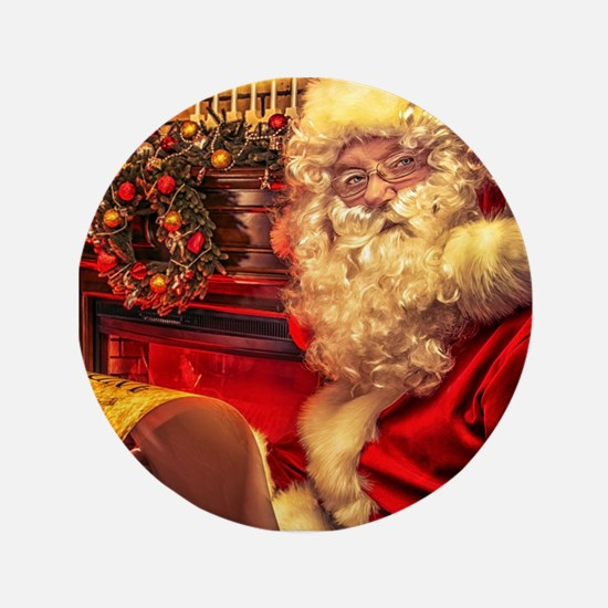 "Santa Claus 4 3.5"" Button"