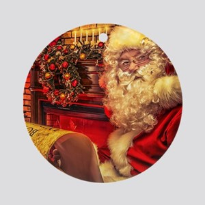 Santa Claus 4 Ornament (Round)