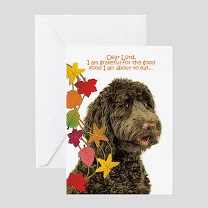 Thanksgiving dog greeting cards cafepress funny labradoodle thanksgiving greeting cards m4hsunfo