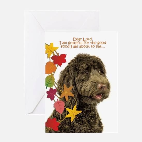 Funny Labradoodle Thanksgiving Greeting Cards
