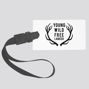 young,wild, freelancer Luggage Tag