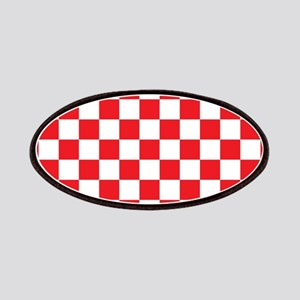 RED AND WHITE Checkered Pattern Patches