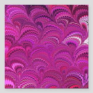 """Purple Wave Square Car Magnet 3"""" x 3"""""""