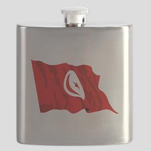 Tunisia Flag Flask