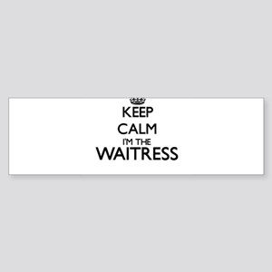 Keep calm I'm the Waitress Bumper Sticker