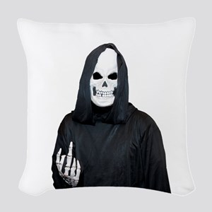 The Reaper Woven Throw Pillow